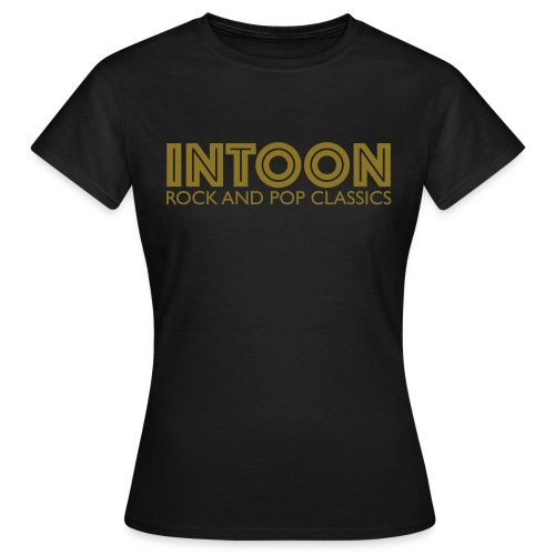 intoon-logo-with-claim - Frauen T-Shirt