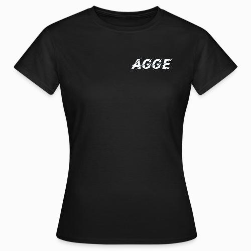 Agge - Vit Logga   Fram - T-shirt dam