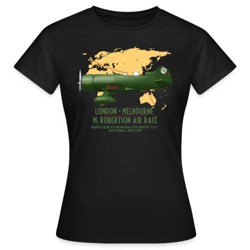 Gee Bee QED McRobertson race London-Melbourne 1934 - Women's T-Shirt