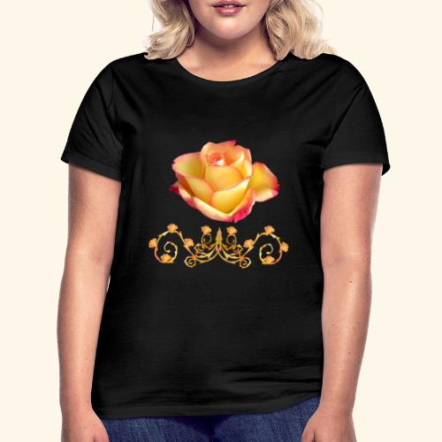 orange Rose, Ornament, Rosen, Blumen, Blüten, edel - Frauen T-Shirt