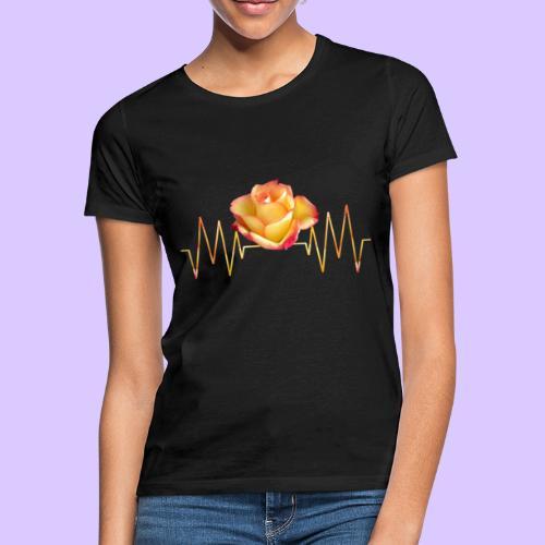 Rose, Herzschlag, Rosen, Blume, Herz, Frequenz - Frauen T-Shirt