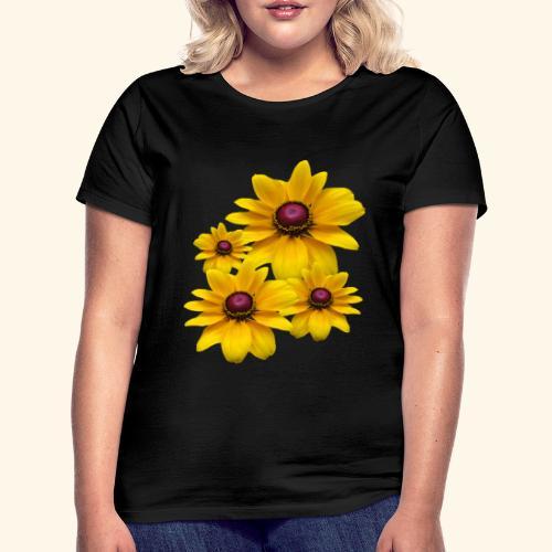 gelb blühende Sonnenhut Blumen, Blüten, floral, - Frauen T-Shirt