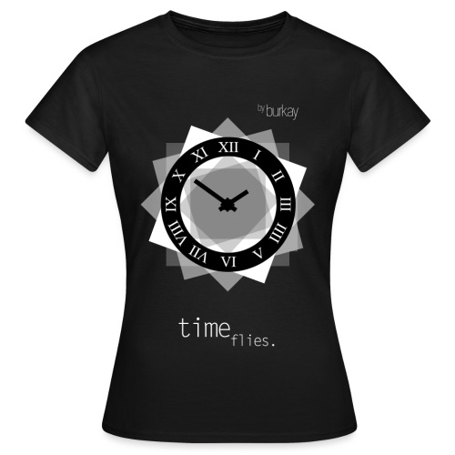 clock(WHITE) - Frauen T-Shirt