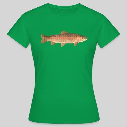 low-polygon-trout art.png - Naisten t-paita
