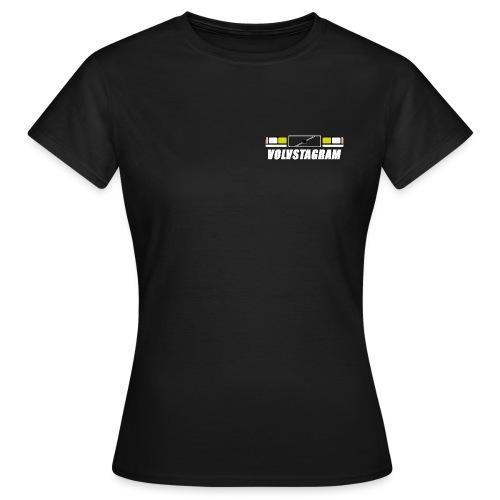 Volvstagram White - T-skjorte for kvinner