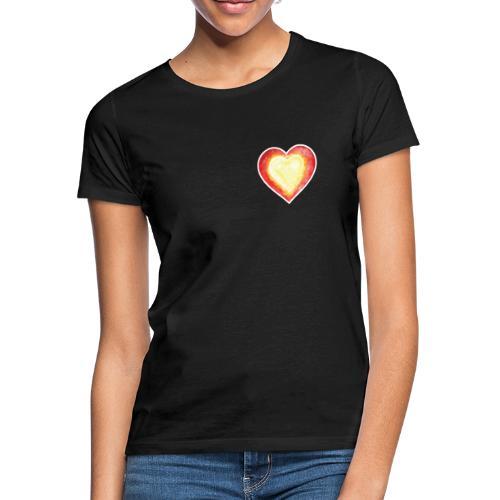 Burning Fire heart - Women's T-Shirt