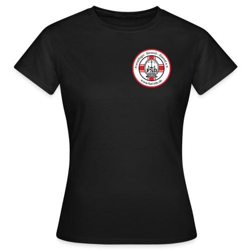 Aufkleber_rund_rot_Intern - Frauen T-Shirt