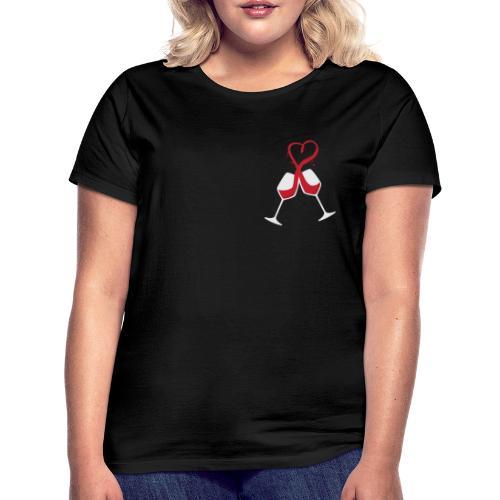 Ich liebe Wein - Frauen T-Shirt