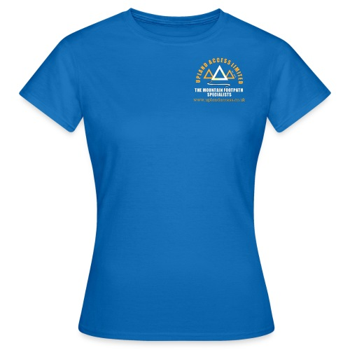 upland access ltd logo gold white - Women's T-Shirt