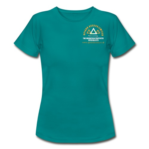 upland access ltd logo gold white - Women's T-Shirt
