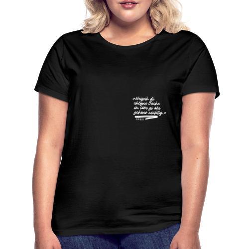 GREIS Typo 01 SMALL - Frauen T-Shirt