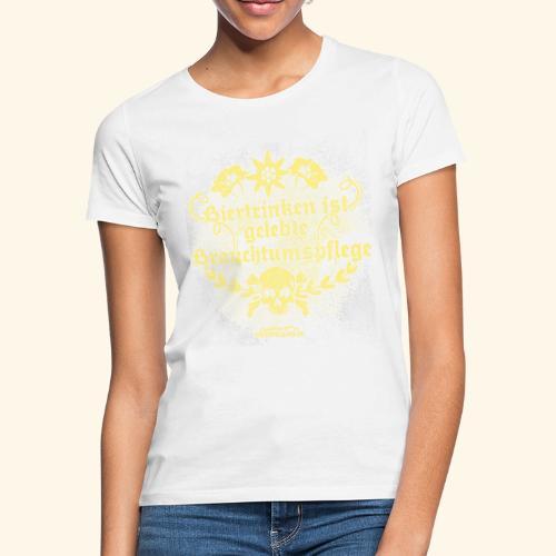 Biertrinken ist gelebte Brauchtumspflege - Frauen T-Shirt
