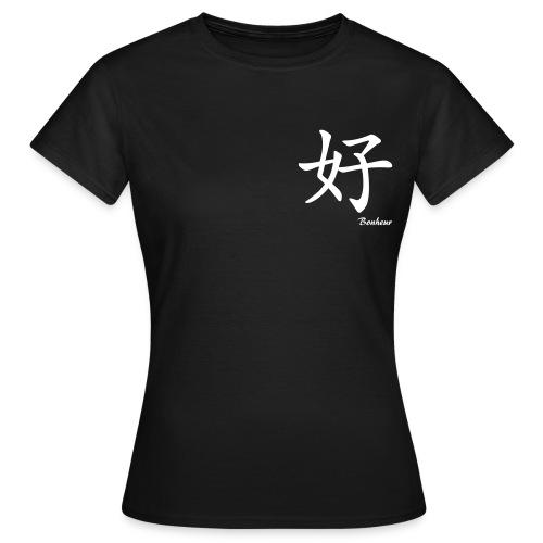 signe chinois bonheur - T-shirt Femme