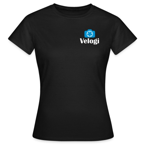 Velogi logo cyan white - Naisten t-paita