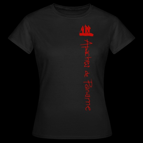 logo apaches vertical rouge - T-shirt Femme