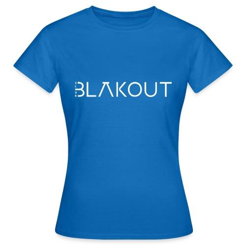 Bläkout -logo valkoinen - Naisten t-paita