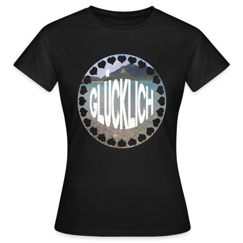 LIMITED GLÜCKLICH Schriftzug - Frauen T-Shirt