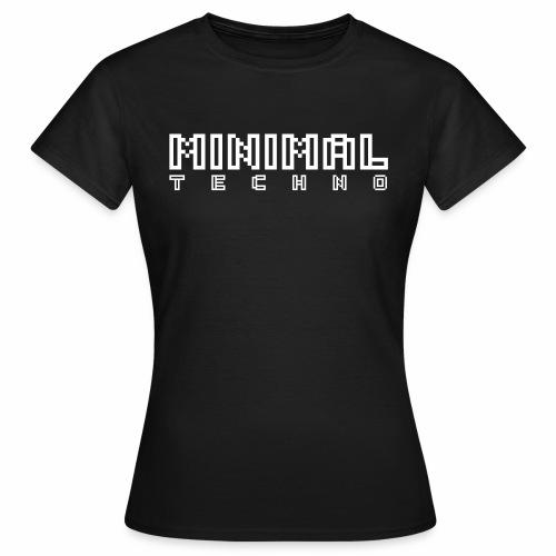 Minimal Techno Pixel Text MNML Art Schriftzug - Frauen T-Shirt