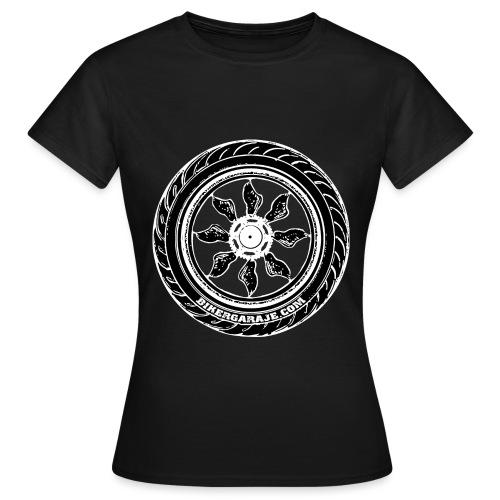 Rueda BikerGaraje.Com - Camiseta mujer