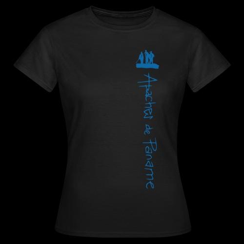logo apaches vertical Bleu - T-shirt Femme