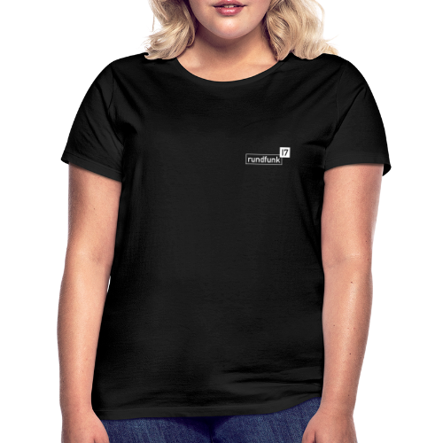 rundfunk17 Logo weiß - Frauen T-Shirt