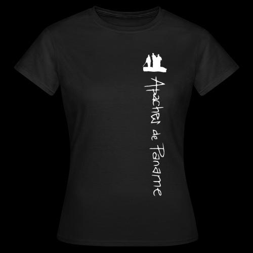 logo apaches vertical blanc - T-shirt Femme
