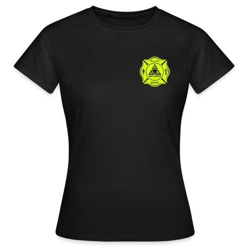 Feuerwehr ABC Einheit - Brust- Rücken- Ärmeldruck - Frauen T-Shirt