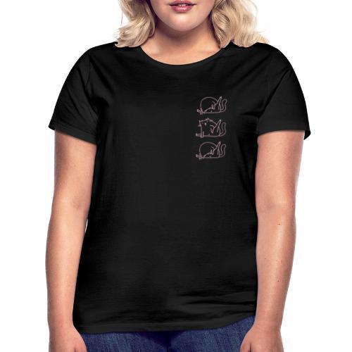 3 Cats rosa - Frauen T-Shirt