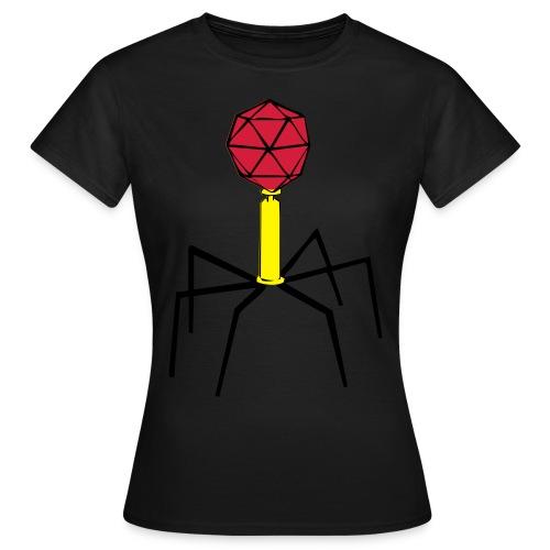 Bakteriophage für Flock- und Flexdruck! - Frauen T-Shirt