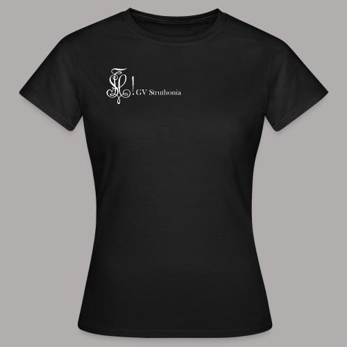 Zirkel mit Name, weiss (vorne) - Frauen T-Shirt