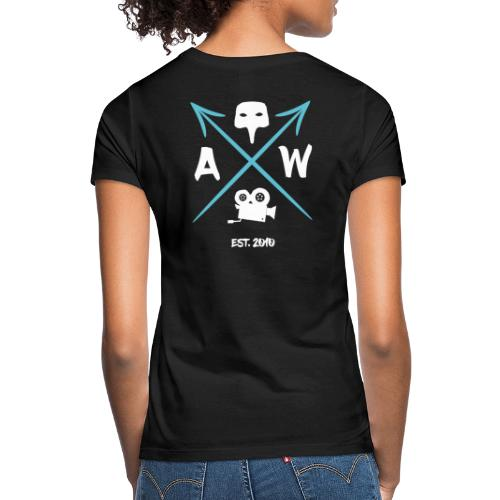 AW ARROWS TEAL & WHITE 2 (Back) - Women's T-Shirt