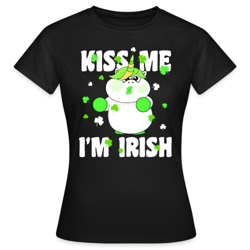 Kiss me I'm Irish Unicorn Einhorn - Frauen T-Shirt