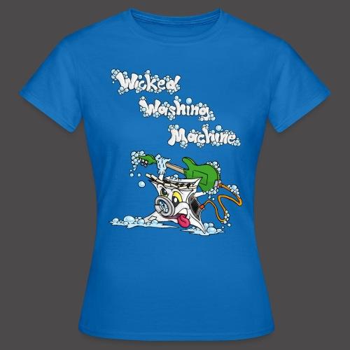 Wicked Washing Machine Cartoon and Logo - Vrouwen T-shirt