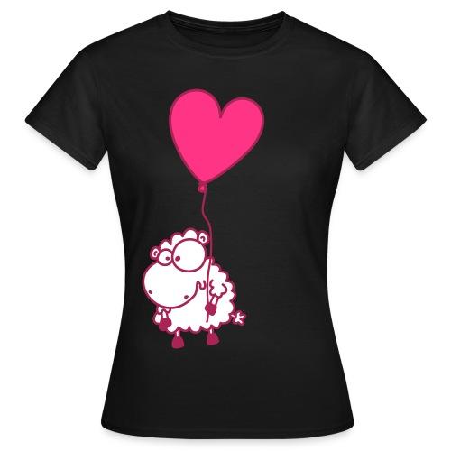 Liebes Schaf - mit Herz Ballon - Frauen T-Shirt