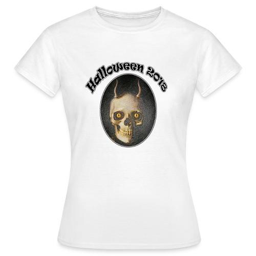 Halloween 2018 Horned Devil Skull - Women's T-Shirt