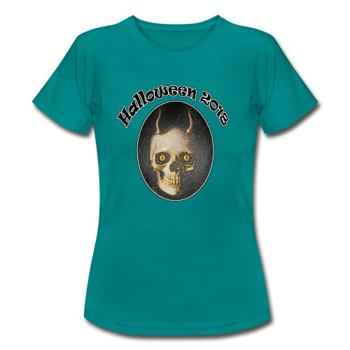 Halloween 2018 Horned Devil Skull - Women's T-Shirt