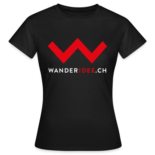 wanderidee nur w mit web - Frauen T-Shirt