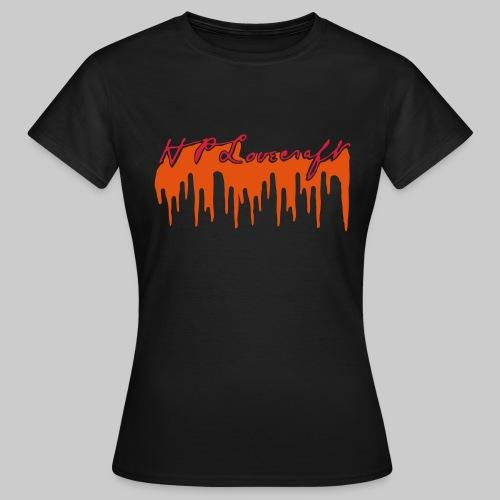Lovecraft Unterschrift mit Blut groß - Frauen T-Shirt