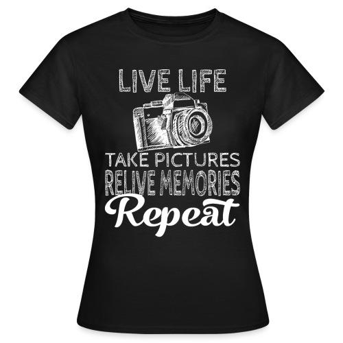 Take Pictures Skizzierter Fotoapparat Fotografie - Frauen T-Shirt