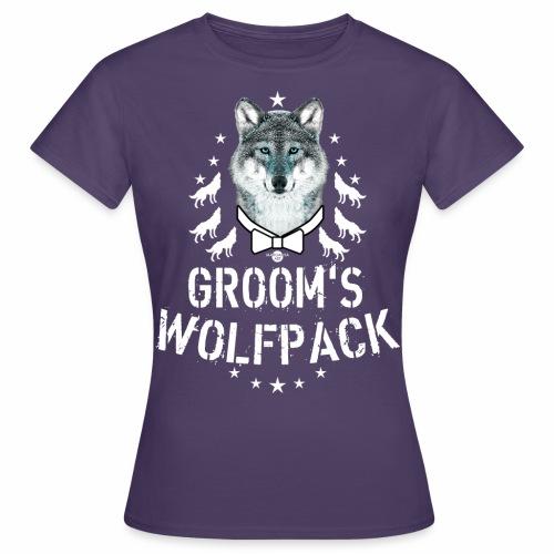 164 Wolf JGA GROOM'S Wolfpack - Frauen T-Shirt