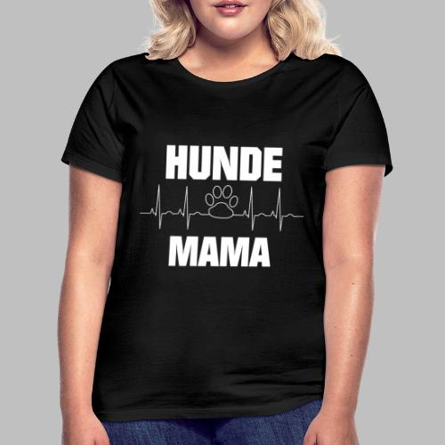 Hundemama EKG Herzlinie Pfote - Frauen T-Shirt