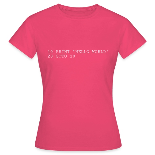 HELLO WORLD - Commodore64 BASIC - Dame-T-shirt