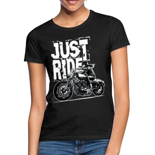 Biker Girl White - Women's T-Shirt