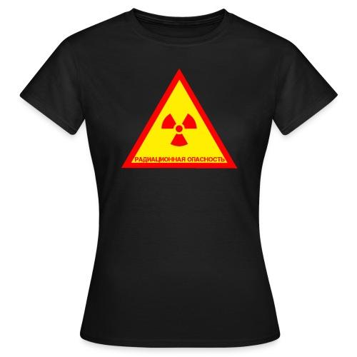 Achtung Radioaktiv Russisch - Frauen T-Shirt