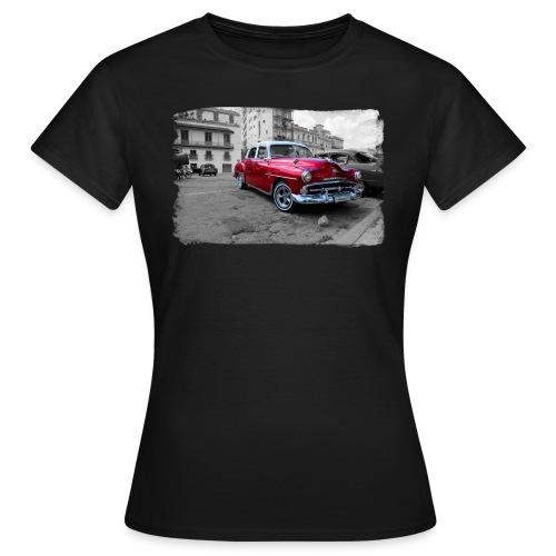 glanzende rode auto - Vrouwen T-shirt
