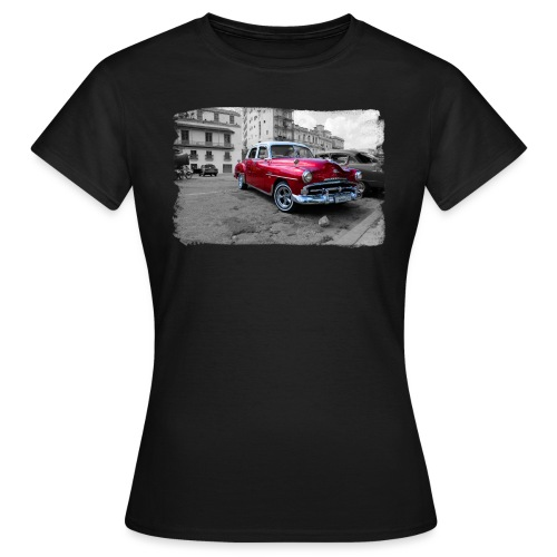 shiny red car - Frauen T-Shirt