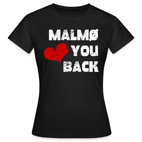 Malmö <3 du tillbaka! - T-shirt dam