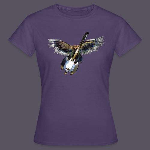 Greifvogel mitGitarrenbeute - Frauen T-Shirt