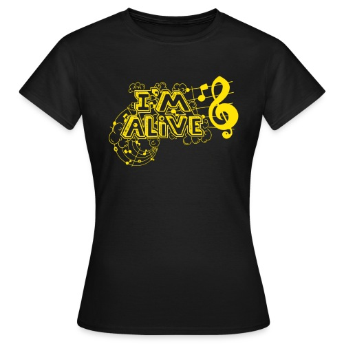 i m alive geel png - Vrouwen T-shirt