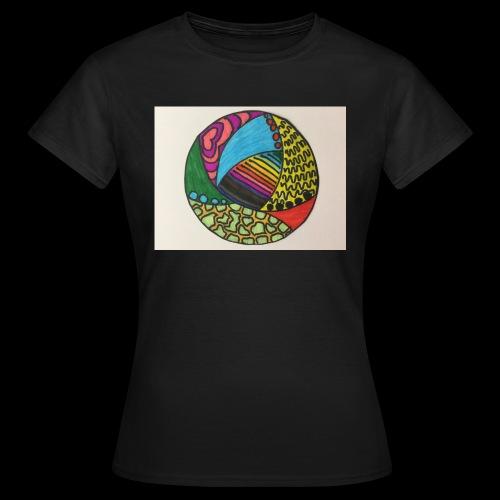 circle corlor - Dame-T-shirt
